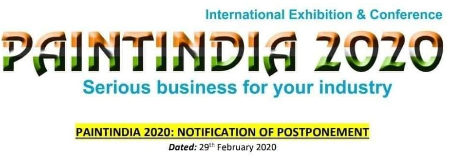 The team of PAINTINDIA2020 officially announced the postponement.